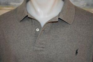 POLO RALPH LAUREN 2XB BIG Men's S/S Soft Cotton Shirt Heather Gray