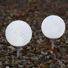 Set de 2 Blanc Allumer Balles De Golf Résistant Aux Intempéries Extérieure T