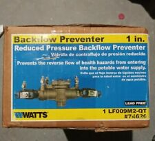 """Watts 1"""" LF009M2-QT Reduced Pressure Zone Assembly Lead Free Backflow Prevention"""