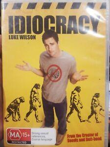 IDIOCRACY RARE DVD LUKE WILSON COMEDY A MIKE JUDGE FILM MAYA RUDOLPH DAX SHEPARD
