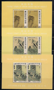 Korea   1970   Sc # 721a-23a   Painting   Perf.   s/s   MLH   (2-3103-)