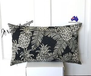 NEW Tommy Bahama Indoor/Outdoor Tropical Palm Pineapple lumbar Cushion Cover