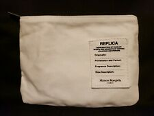 "Maison Margiela Replica White Zippered Cosmetic Bag 7½"" x 5½"""