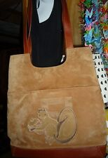 Vintage Fendi suede leather purse handbag tote