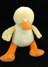 "Animal Alley Baby Yellow Orange Duck Satin Wings 12"" Plush Lovey Toys R Us"
