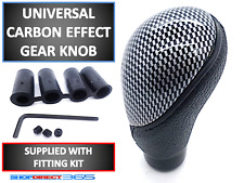 CARBON EFFECT GEAR SHIFT KNOB STICK MANUAL 5 SPEED SHIFTER SELECTOR CAR VAN 19-3