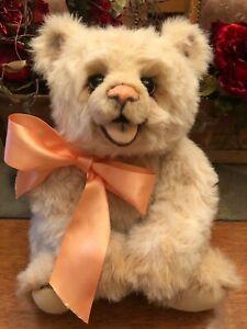 ~ OOAK IVORY MOHAIR  BEAR ~ CHUBBY CHUCKLES BY OZ MATILDA ~ LISA ROSENBAUM ~