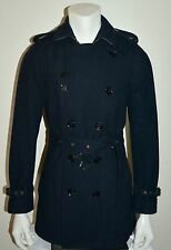 NWT BURBERRY $1295 BRITTON MENS WOOL DOUBLE BREASTED TRENCH COAT JACKET SMALL