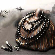 Homme Collier Bracelet Perles Chapelet Sautoir Pierre Mala Bouddhiste  Profi
