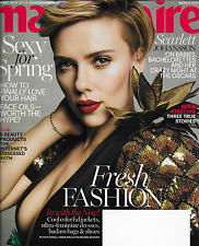 Scarlett Johansson Marie Claire Magazine Spring Style Sex And Startups Beauty