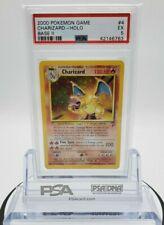 Charizard #4/130 - 2000 Pokemon Card Base Set 2 Holo Rare WOTC - PSA 5 EX