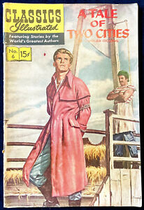 Classics Illustrated No.6 - A Tale of Two Cities, 1965, G+/VG Condition.