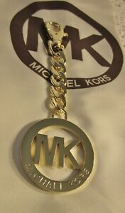 AUTHENTIC MK Michael Kors LARGE Gold Tone Purse Charm NEW & PERFECT