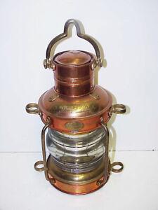 Brass Copper Anchorlight Clark Bros London Bristol Oil Lamp Anchor Light Lantern