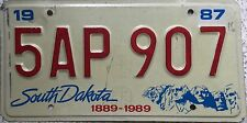 GENUINE South Dakota Mount Rushmore Centennial USA License Number Plate 5AP 907