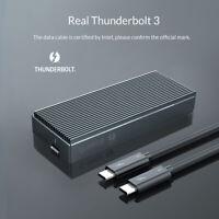 ORICO Thunderbolt 3 40Gbps M.2 NVME SSD Enclosure Case 2TB Type-C USB C Aluminum