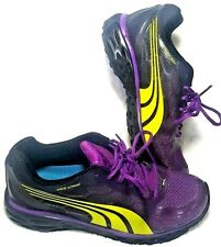 Puma Womens Shoes Size 4.5 Purple Yellow Athletic Running Webtech Web Cage