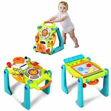 3 in 1 Lauflernhilfe Spielbrett Zeichentisch Baby Walker Gehfrei für Kleinkinder