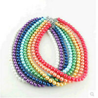 Women Elegant Multi-color Pearl Pendant Necklace Charm Clavicle Chain Jewelry