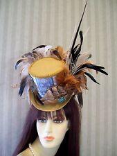 Steampunk Mini Top Hat, Tea Hat, Alice in Wonderland Hat, Nautical, Halloween