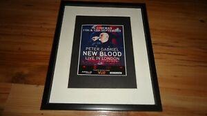 PETER GABRIEL new blood live in london-framed original press promo advert
