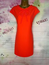 TED BAKER 'TEMBERL' VIBRANT NEON CORAL TUNIC DRESS SIZE 3 UK 12