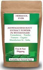 Ashwagandha Root Extract Powder 5% Withanolides (Withania Somnifera) 100 % Pure