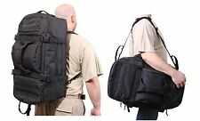 "Black 3 In 1 Convertible Mission Bag 26"" Tactical MOLLE Backpack & Shoulder Pack"