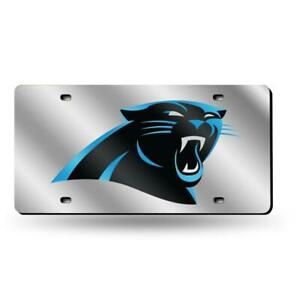 Carolina Panthers Silver Laser Cut License Plate [NEW] Car Truck Auto Frame Tag