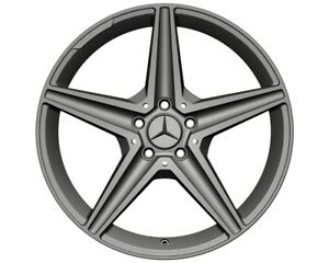 18 x 8.5 Car Wheel Rims Fits Mercedes-Benz E & C 5 x 112 Gun Ash Casting New 1