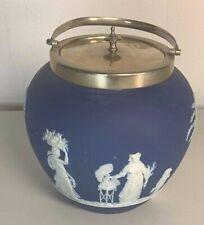 Wedgwood Jasper Ice Bucket Blue and White