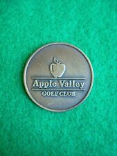 """Apple Valley Golf Club Ball Marker 1"""" Metal Flat Putting Coin - Used"""