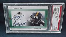 1999 SP AUTHENTIC FOOTBALL CARD TROY EDWARDS RC PLAYERS INK SIGNED AUTO PSA 9 NQ