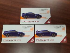 Hot Wheels 2020 id '17 Nissan Skyline GT-R (R35) Blue HW Turbo (Lot of 3) *NEW*