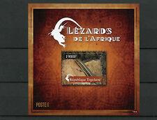 Togo 2014 MNH Lizards of Africa 1v S/S Reptiles Lezards de l'Afrique