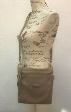 Leather Shoulder Bag  Ladies Med Taupe Crossbody Neutral Avorio Grey Messenger