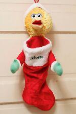 "Sesame Street Big Bird ""Mom"" Christmas Stocking Plush"