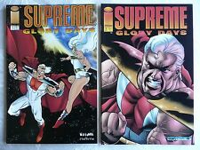 SUPREME: GLORY DAYS #1 & #2 (Image 1994) • Complete set of two comics • Mint!