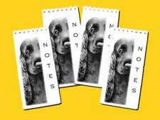 Cocker Spaniel Dog Pack of 4 Small Slim Note Pads Gift Set