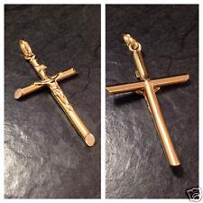 Großer Anhänger Kreuz INRI Goldanhänger 750er Gold Goldkreuz 18 Karat GG 5,0 cm