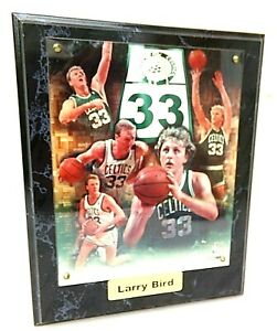 HOF 1998 Larry Bird Boston Celtics 10 x 13 Photo Montage Plaque 1999