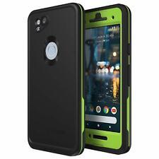 Lifeproof FRĒ Series Waterproof Case for Google Pixel 2  Night LITE (Black/Lime)