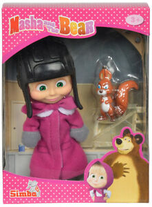 SIMBA, Masha and The Bear, Doll Toy, Masha with a squirrel NEW in Gift box