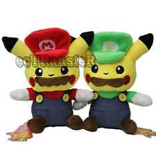 "10"" Pokemon GO pikachu Cospiay ver Super Mario Soft Plush Toy Doll/PC3568"