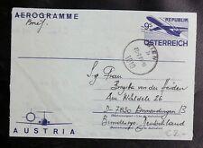 ENTIERS POSTAL D'AUTRICHE : AEROGRAMME 9 SCHILLING Oblitéré de 1986 -TBE
