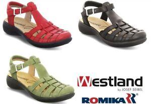 Josef Seibel Westland Germany formerly Romika Orthotic friendly Sandal Ibiza 112