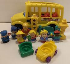 Fisher Price Little People School Bus + 12 Figures/Accessories