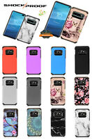 For Samsung Galaxy A21 Hybrid Rubberized Shockproof Armor Defender Case Cover