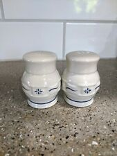 Longaberger Woven Traditions Classic Heritage Blue Salt And Pepper Shakers