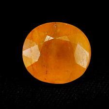 TOP BIG SAPPHIRE : 10,84 Ct Natürlicher Gelb Orange Saphir aus Madagaskar